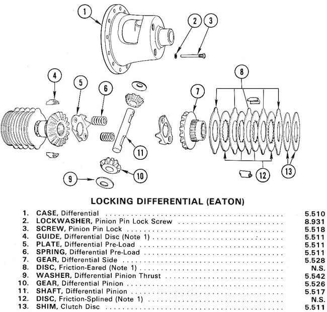 63-79 differential exploded view