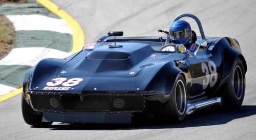 Alan Sevadjian in the Duntov Corvette roadster at the SVRA Atlanta Race