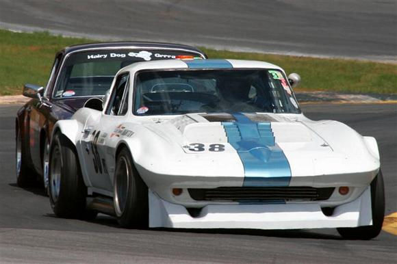 Duntov Lightweight testing a front spoiler at Road Atlanta during the Walter Mitty 2007