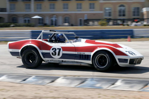 Clair Schwenderman in his 1968 Corvette at Sebring
