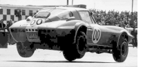 1963 Corvette Grand Sport with three tires off the ground